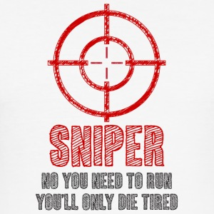Military / Patriotic: Sniper - No you need to run, - Men's Slim Fit T-Shirt