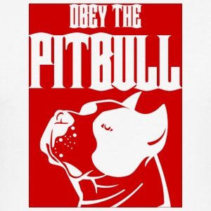 Hund / Pitpull: Obey The Pitbull - Männer Slim Fit T-Shirt