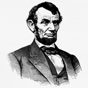 Abraham Lincoln - Slim Fit T-shirt herr
