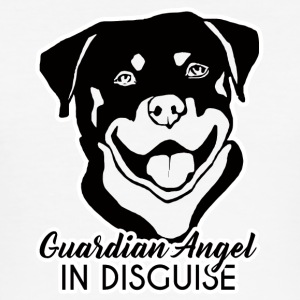 Chien / Rottweiler Ange Gardien In Disguise - Tee shirt près du corps Homme