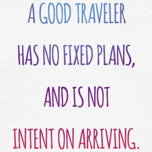 A good traveler has no fixed plans. - Men's Slim Fit T-Shirt