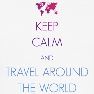 Keep calm and travel around the world - Men's Slim Fit T-Shirt
