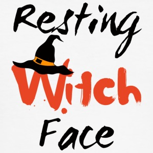 Halloween: Witch Resting Face - Slim Fit T-skjorte for menn