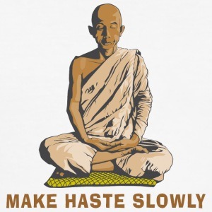 Hindu Hinduism Make Haste Slowly - Men's Slim Fit T-Shirt