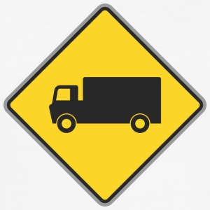 Road truck sign geel - slim fit T-shirt