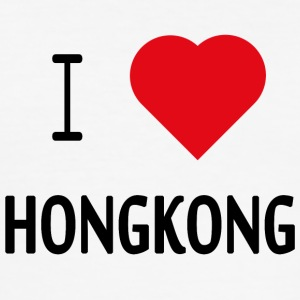 I Love Hongkong - Männer Slim Fit T-Shirt
