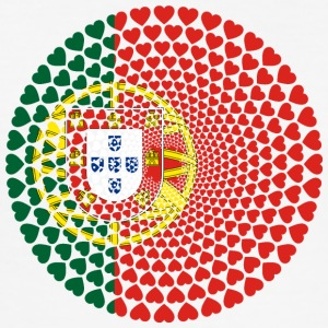 Portugal Portuguesa Love HEART Mandala - Men's Slim Fit T-Shirt