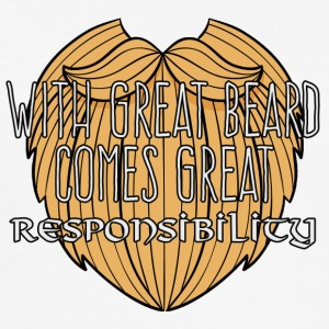 Wikinger: With Great Beard Comes Great Responsibil - Männer Slim Fit T-Shirt
