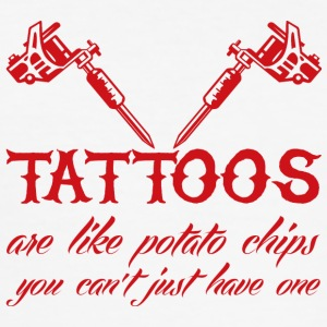 Tatovering / Tatovering: Tatoveringer er ligesom Potato Chip - Herre Slim Fit T-Shirt