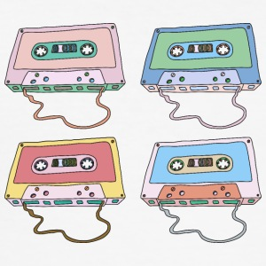 Music cassette compact cassette magnetic tape Retro - Men's Slim Fit T-Shirt