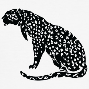 Sittin jaguar zwart - slim fit T-shirt