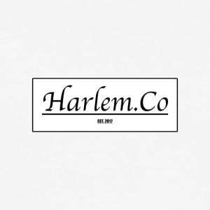 Harlem Co logo hvit og svart - Slim Fit T-skjorte for menn