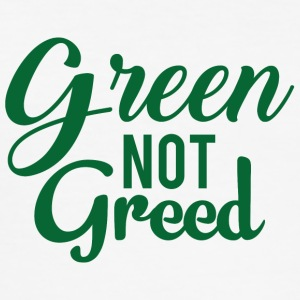 Earth Day / Earth Day: Green not greed - Men's Slim Fit T-Shirt