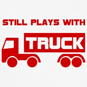 Mechanic: Still plays with Truck. - Men's Slim Fit T-Shirt