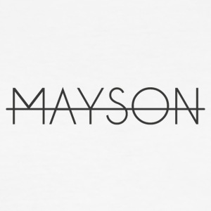 Mayson lettering black - Men's Slim Fit T-Shirt
