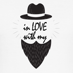 In love with my beard - Männer Slim Fit T-Shirt