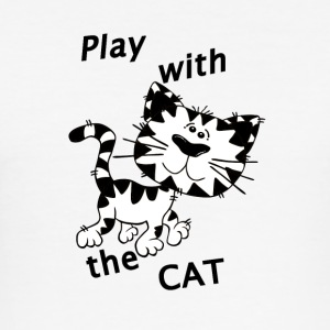 Play_Cat_Black1 - slim fit T-shirt