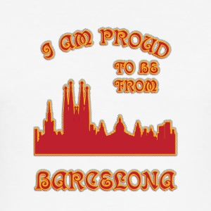 Barcelona I am proud to be from - Men's Slim Fit T-Shirt