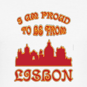 LISBON I am proud to be from - Men's Slim Fit T-Shirt