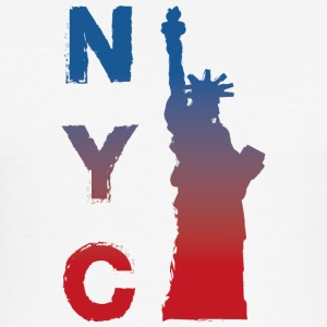 New York by - Slim Fit T-skjorte for menn