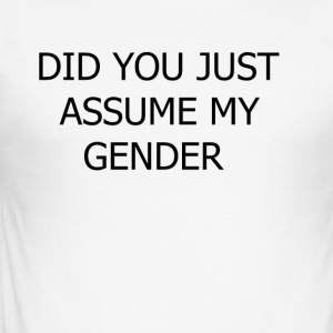 dont assume my FUCKING GENDER - Herre Slim Fit T-Shirt