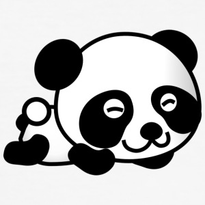 Panda-T-Shirt - Männer Slim Fit T-Shirt