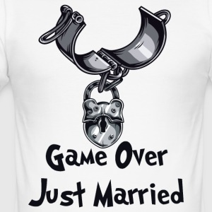 Game Over Just Married - Tee shirt près du corps Homme
