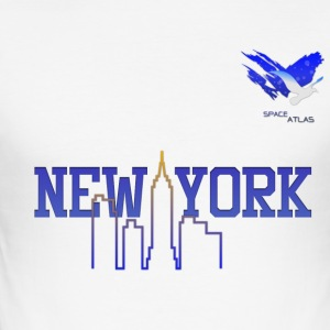 Space Atlas Honkbal New York - slim fit T-shirt