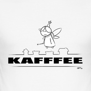 mens kaffe - Slim Fit T-skjorte for menn