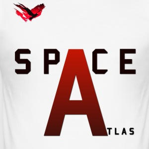 Space Atlas Baseball lange mouwen Kapitaal A - slim fit T-shirt