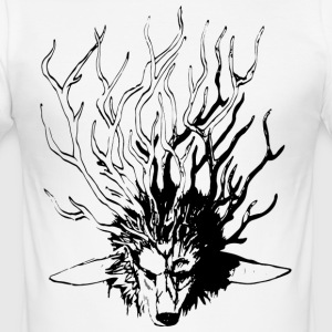 Wolf_Geweih_SW - Men's Slim Fit T-Shirt