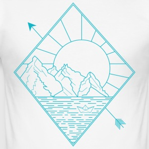Alaska blue - Männer Slim Fit T-Shirt
