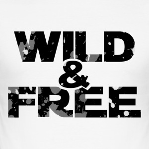 WILD & FREE - Männer Slim Fit T-Shirt