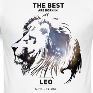 leo-star Leo constellation horoscope July birthday b - Men's Slim Fit T-Shirt