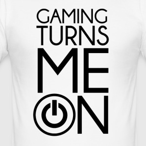 Gaming zet me aan door Juiceman Benji Gaming - slim fit T-shirt