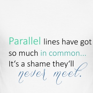 Parallel Lines 2 - Männer Slim Fit T-Shirt