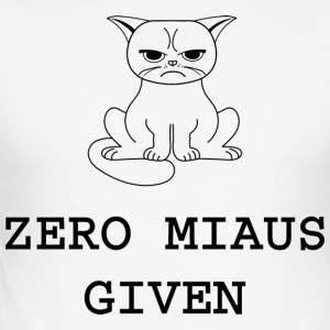 Zero meows Gitt - Slim Fit T-skjorte for menn