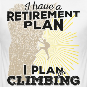 Retirement plan klatring (mørk) - Slim Fit T-skjorte for menn