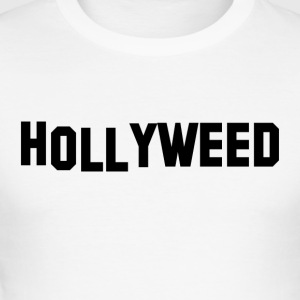 Hollyweed Svart - Slim Fit T-shirt herr