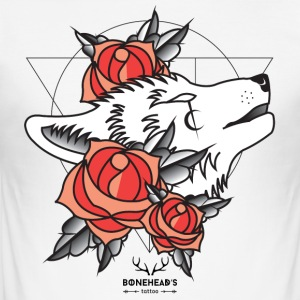 Wolfhead - Männer Slim Fit T-Shirt