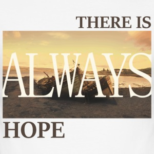 There_is_always_hope_slim_picture_natural - Männer Slim Fit T-Shirt