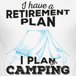 Retirement plan camping (dark) - Männer Slim Fit T-Shirt