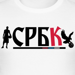 Basketball serbia - Herre Slim Fit T-Shirt