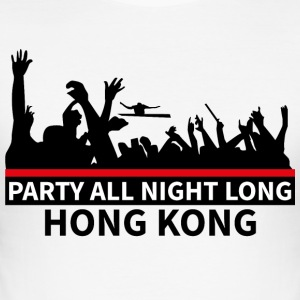 HONG KONG - Party All Night Long - Herre Slim Fit T-Shirt