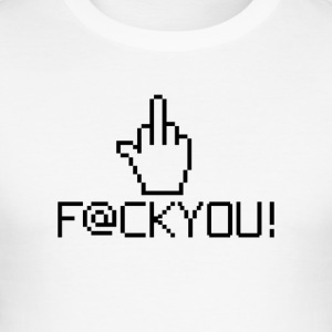 MIDDLE FINGER CURSOR - Männer Slim Fit T-Shirt
