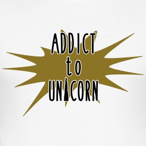 addict to unicorn - Men's Slim Fit T-Shirt