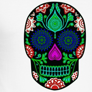colorful skull - Men's Slim Fit T-Shirt