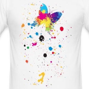 Spray vlinder - slim fit T-shirt