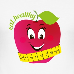 Eat healthy - Männer Slim Fit T-Shirt