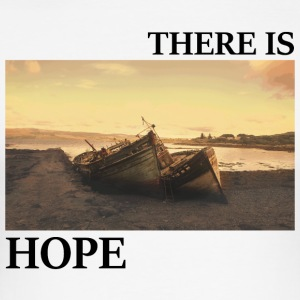 There_is_hope_picture_black_letters - Camiseta ajustada hombre